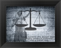Framed Justice Law Mark Twain Quote