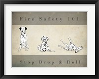 Framed Stop, Drop and Roll