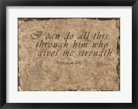 Framed Philippians Quote
