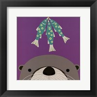 Framed Peek-a-Boo Otter