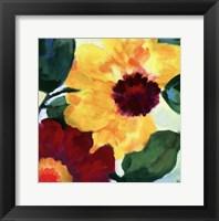 Framed Anemone Garden I
