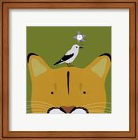 Framed Peek-a-Boo Puma