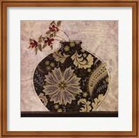 Framed Floral Ornament I