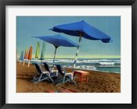 Blue Wave Sound Framed Print