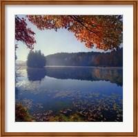 Framed Bass Lake in Autumn I