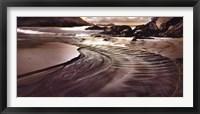 Jeweled Coastline Framed Print