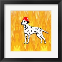 Framed Firefighter Dog