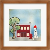 Framed Dalmation Firehouse