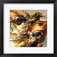 Napoleon Raptor Crossing the Alps Framed Print