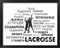 Framed Lacrosse Text