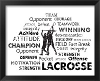 Framed Lacrosse Text