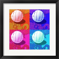 Volleyball Pop Framed Print