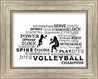 Framed Volleyball Text