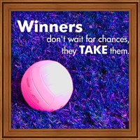 Framed Winners Don't Wait for Chances