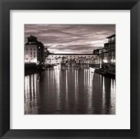 Golden Ponte Vecchio Framed Print