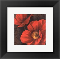 Framed Rouge Poppies II - petite