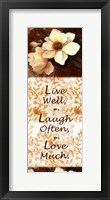 Framed Live Well, Laugh Often, Love Much