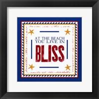 Beach Bliss Framed Print