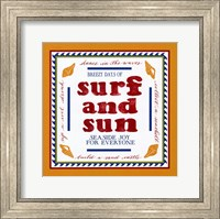 Framed Beach Surf