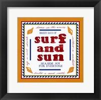 Beach Surf Framed Print