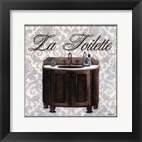 Framed La Toilette Square