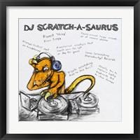 Framed DJ Scratch-A-Saurus