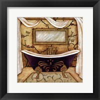 PURPLE PASSION BATH I Framed Print