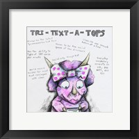 Tri Text ATops Framed Print