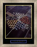 Framed Teamwork - Skydivers