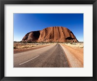 Framed Road passing through a landscape, Ayers Rock, Uluru-Kata Tjuta National Park, Australia