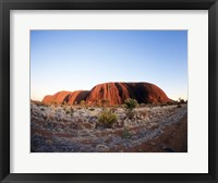Framed Rock formation on a landscape, Ayers Rock, Uluru-Kata Tjuta Park