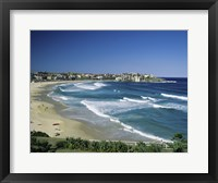 Framed High angle view of a beach, Bondi Beach, Sydney, New South Wales, Australia