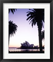 Framed Silhouette of a opera house at dusk, Sydney Opera House, Sydney, Australia