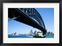 Framed Low angle view of a bridge, Sydney Harbor Bridge, Sydney, Australia