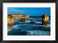 Framed High angle view of rocks in the sea, Twelve Apostles, Port Campbell National Park, Victoria, Australia