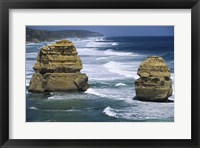 Framed Sea stacks at the Port Campbell National Park, Victoria, Australia