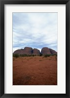 Framed Rock formations on a landscape, Olgas, Uluru-Kata Tjuta National Park, Northern Territory, Australia Vertical