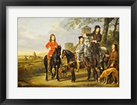 Framed Aelbert Cuyp, Starting For  the Hunt Crop