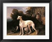 Framed Alfred Dedreux - A Greyhound In An Extensive Landscape