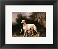 Framed Alfred Dedreux - A Greyhound In An Extensive Landscape