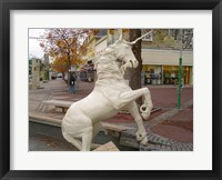 Framed Unicorn Statue