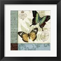 Framed Butterfly Patchwork I