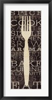 Framed Kitchen Words I