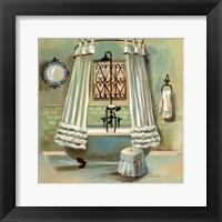 Glass Tile Bath II Framed Print