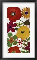 Watercolor Garden Panel I Framed Print