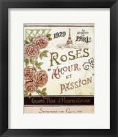 French Seed Packet I Framed Print
