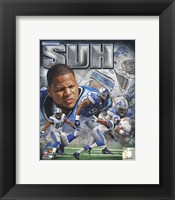 Framed Ndamukong Suh 2011 Portrait Plus