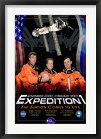 Framed Expedition 1 Crew Poster