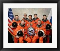Framed Atlantis STS-106 Crew