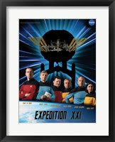 Framed Expedition 21 Star Trek Crew Poster